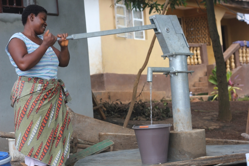 manual water pump at the Dream Home